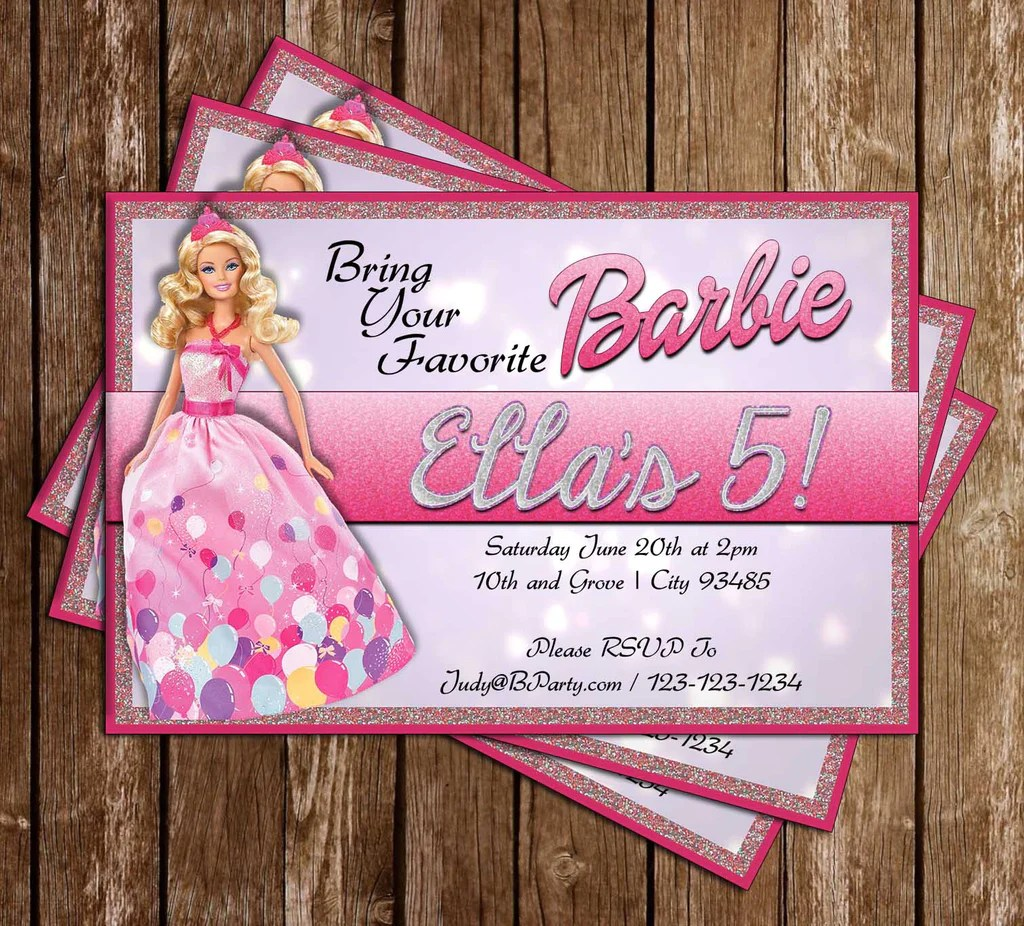Concept Design - Barbie Glitter Birthday Party