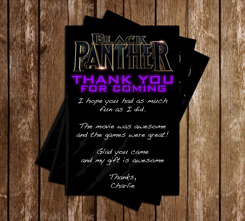 Novel Concept Designs Black Panther Blue Birthday