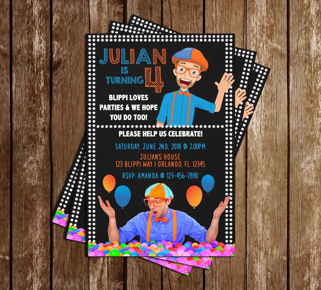 blippi science birthday party invitation