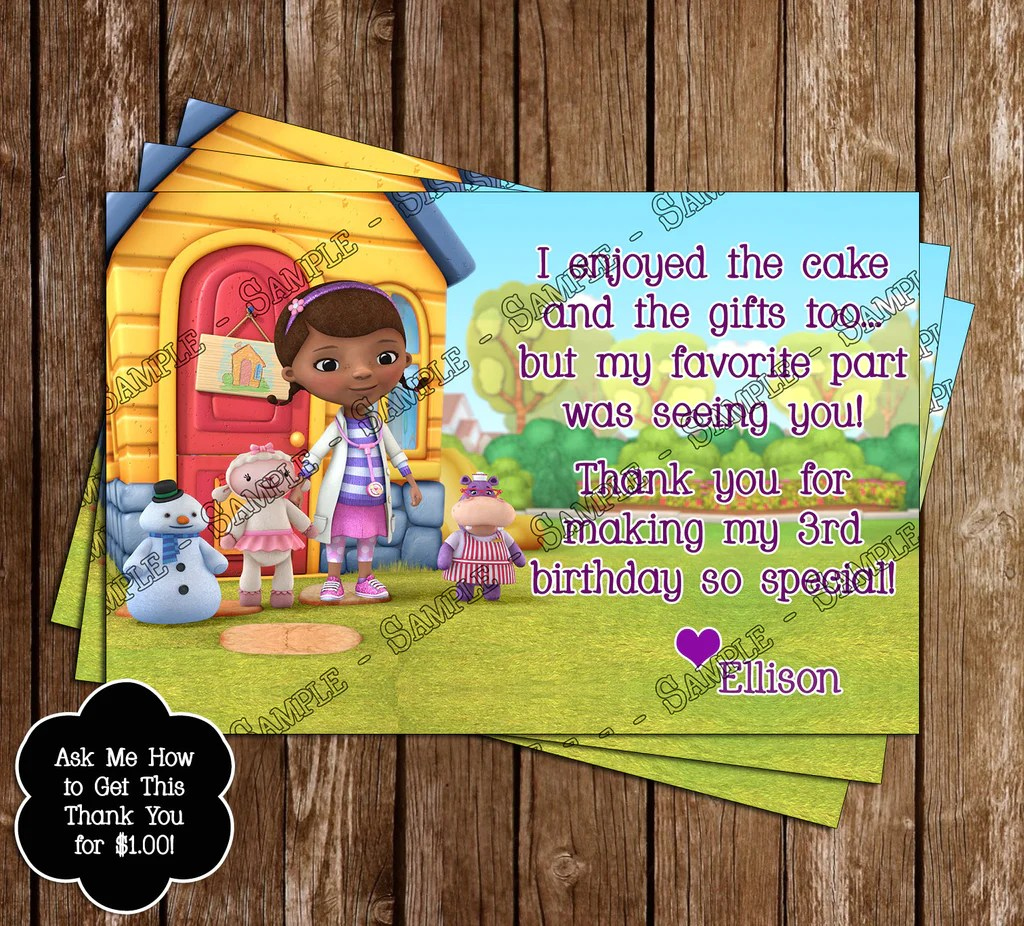 20 Doc Mcstuffins 1st Birthday Invitation Template Pictures And