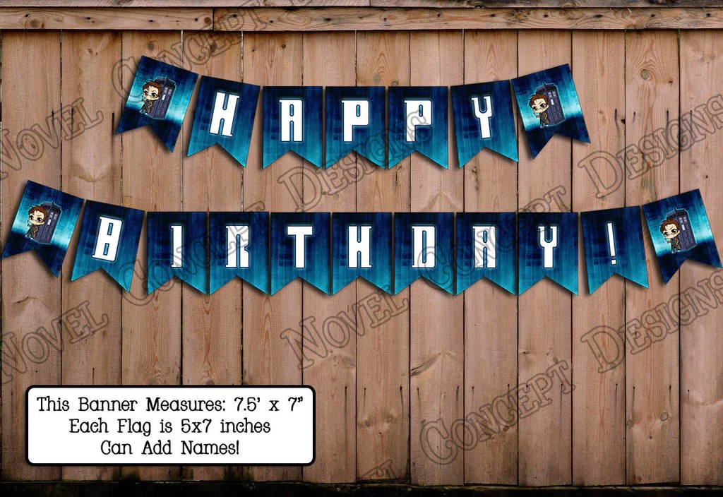 Novel Concept Designs Free Doctor Who Happy Birthday
