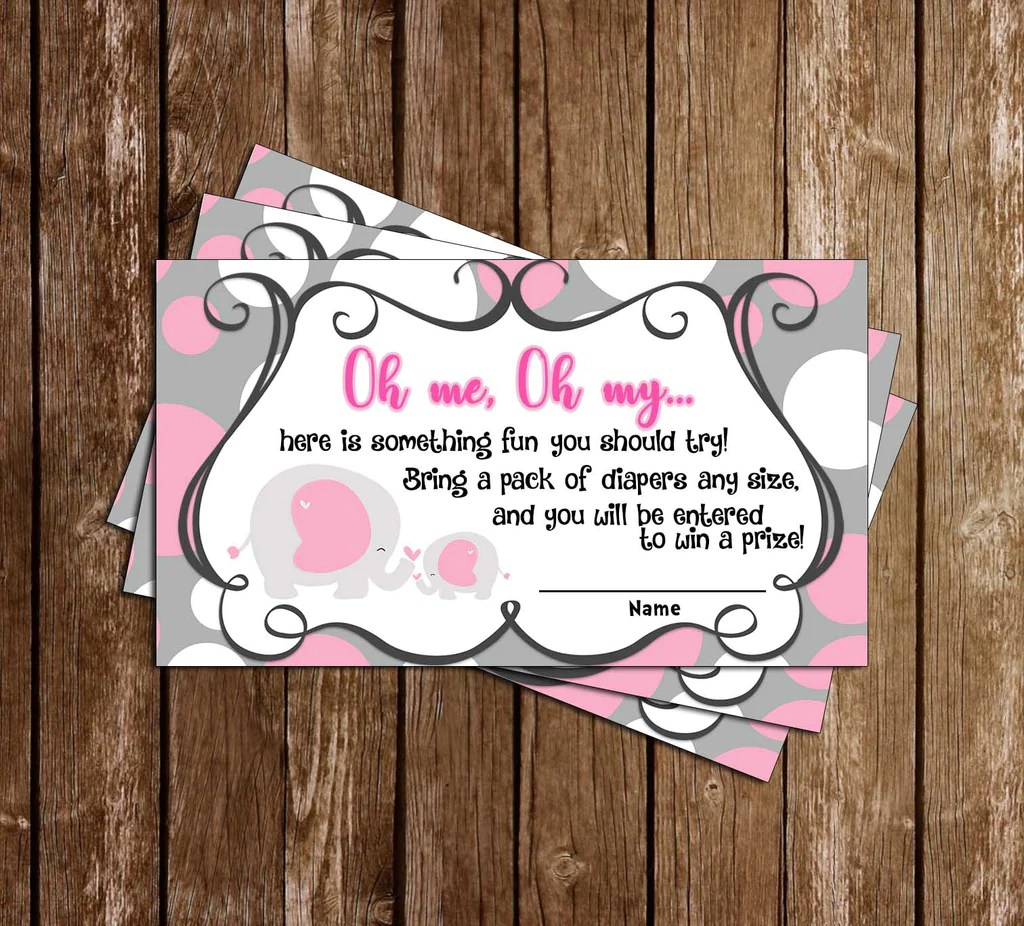 Novel Concept Designs - Baby Elephant - Baby Shower - Thank You Card