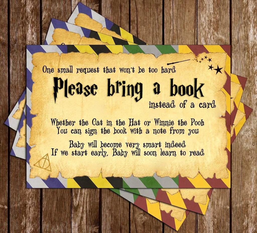 Novel Concept Designs Harry Potter Muggle To Mom Baby Shower Invitation