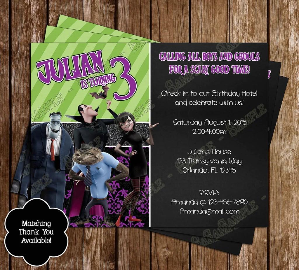 Hotel Transylvania Birthday Party Invitations