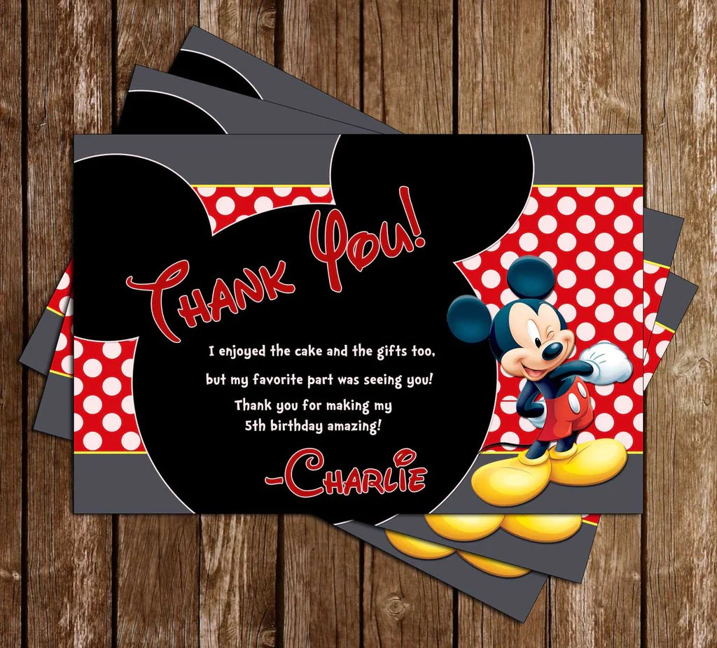 mickey mouse clubhouse chalkboard birthday party invitation
