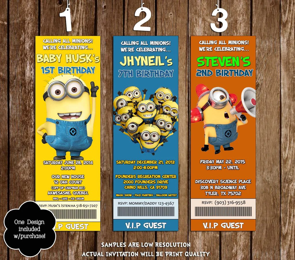Novel Concept Designs Despicable Me Movie Birthday