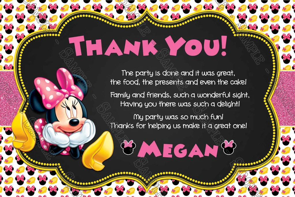 minnie mouse oh two dles birthday party invitation