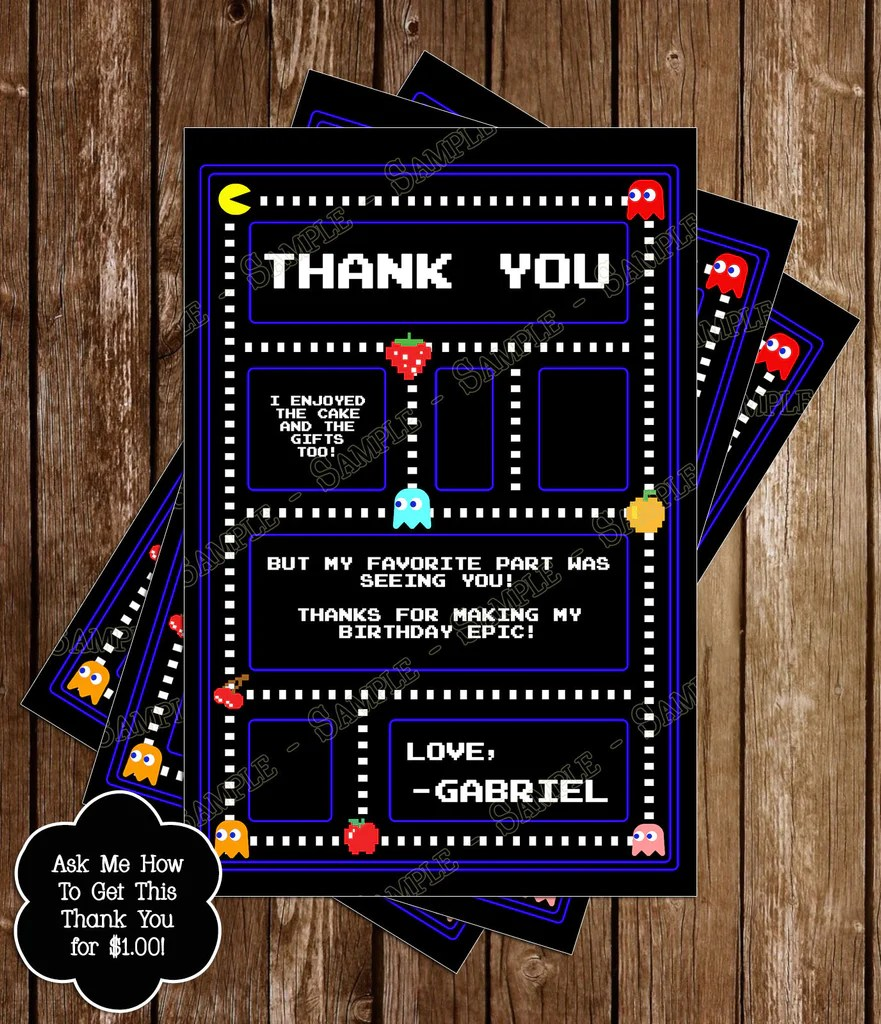 20 Pacman Invitations Pictures And Ideas On Weric