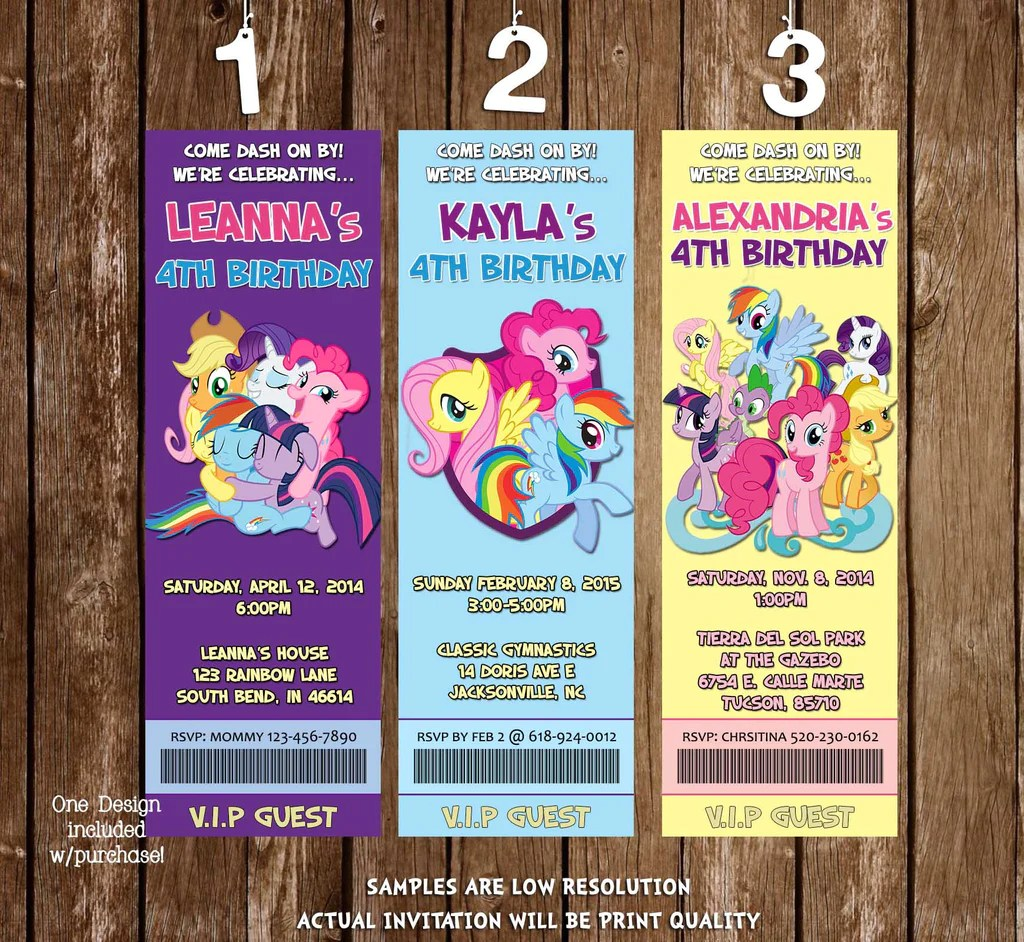 Novel Concept Designs My Little Pony Group Birthday