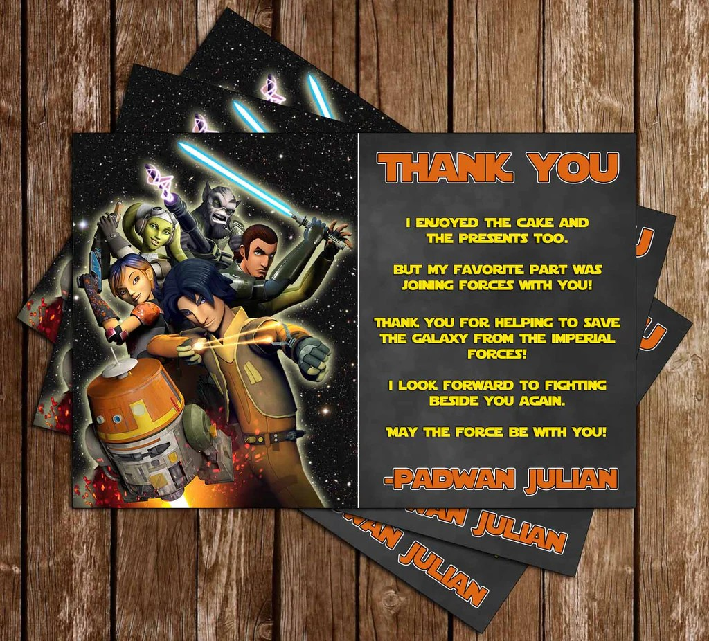 star wars rebels birthday party thank you card printable