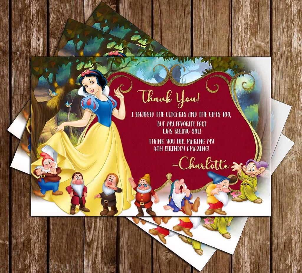 snow white golden frame birthday invitation