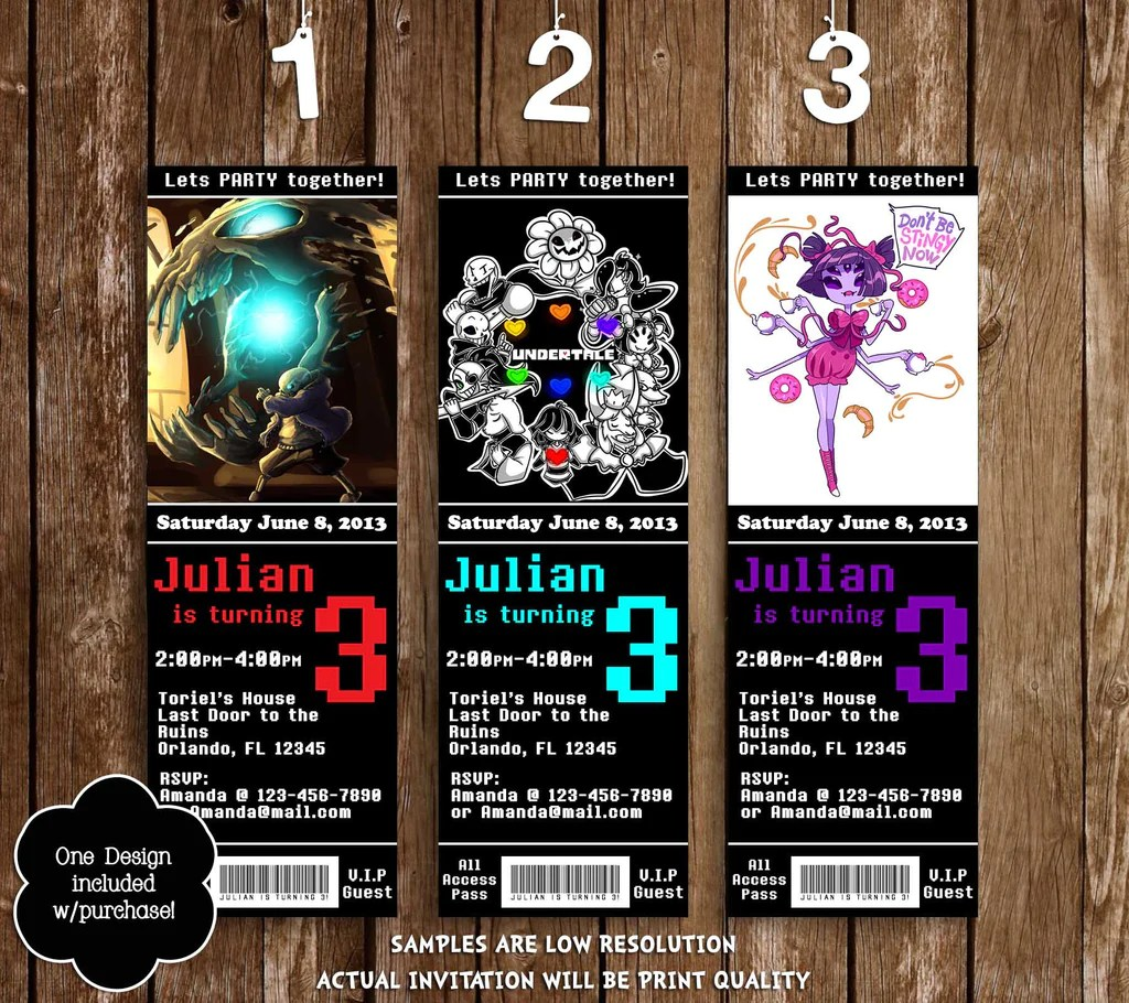 Novel Concept Designs Undertale Game Ticket Birthday