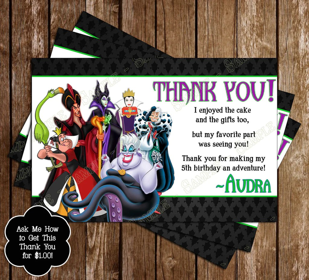 Novel Concept Designs Disney's Evil Villains Birthday
