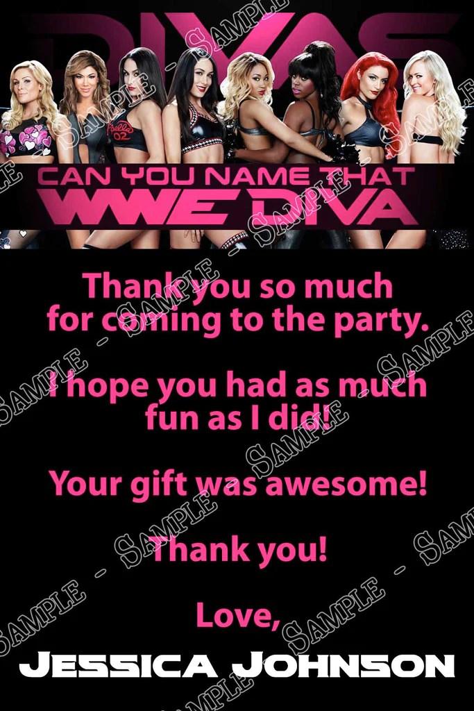 Novel Concept Designs WWE Divas Birthday Party