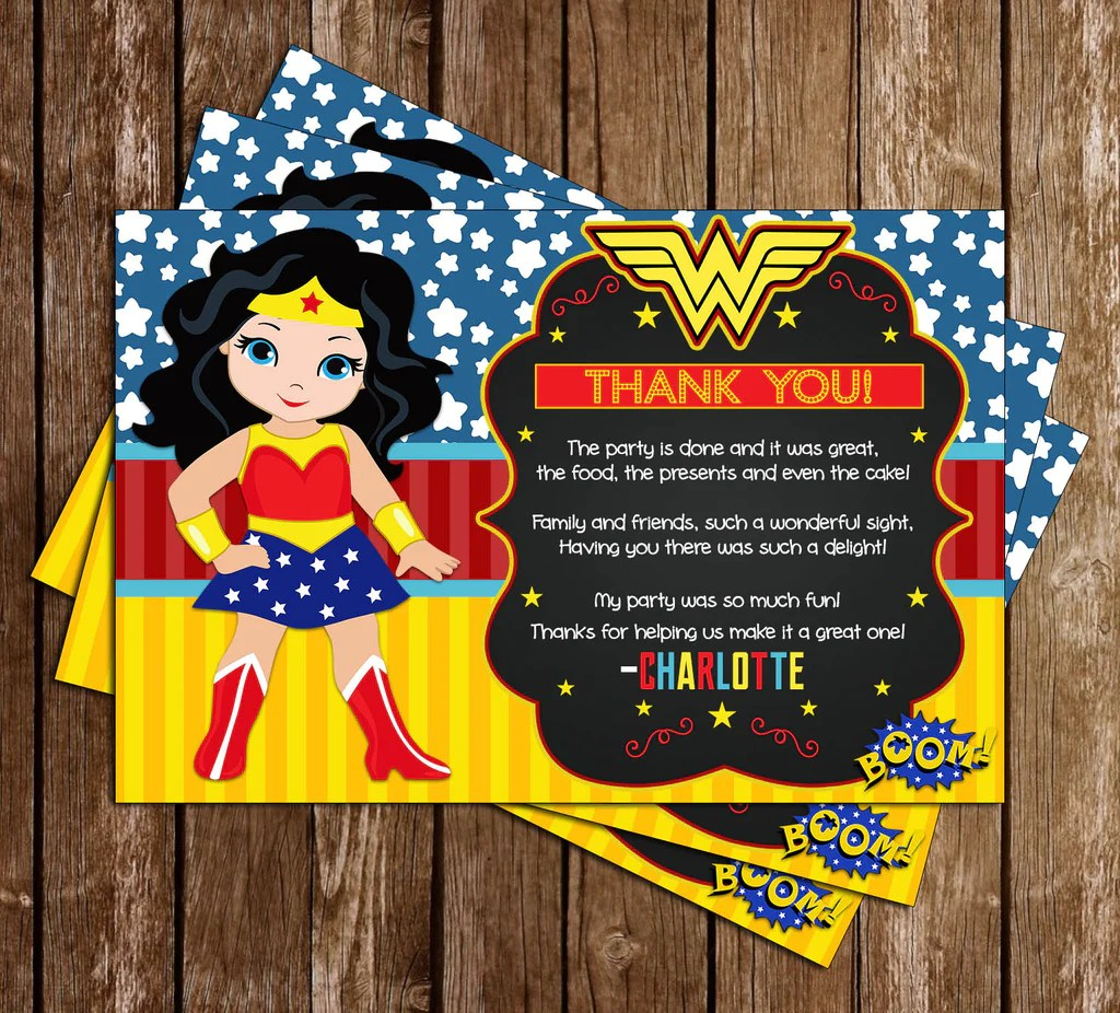 Novel Concept Designs Wonder Woman Birthday Party