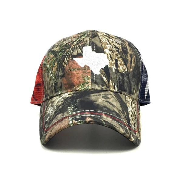 Mossy Oak Texas Flag Trucker Hat  Texas Humor
