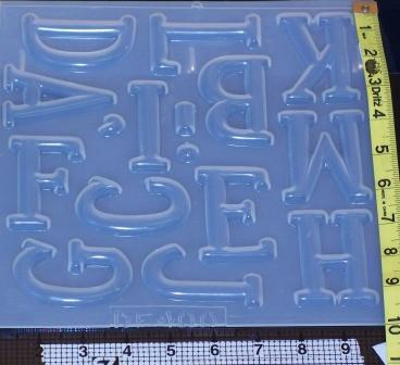 Alphabet Letters Molds 400  401  Resin Obsession