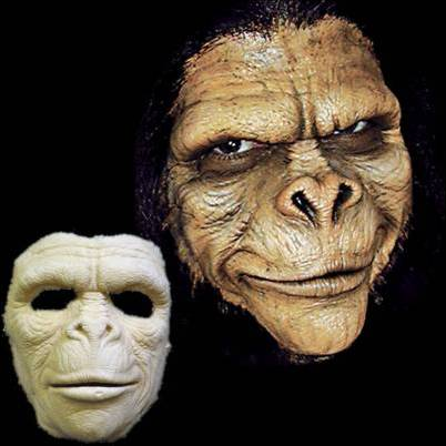 Ape Man mask prosthetic by Woochie | MostlyDead.com