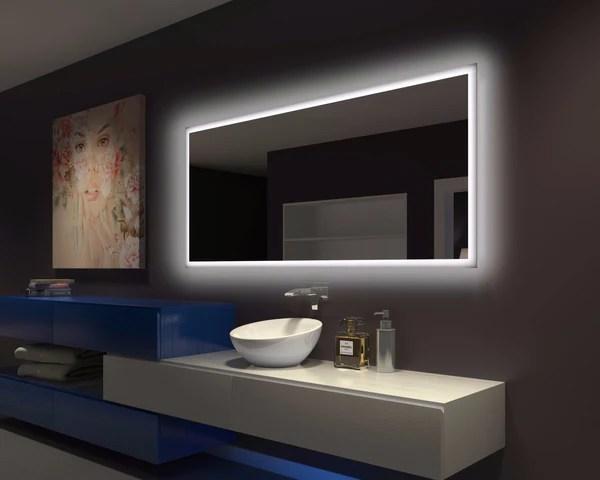 BACKLIT Bathroom MIRROR RECTANGLE 70 X 32 in  Paris mirror