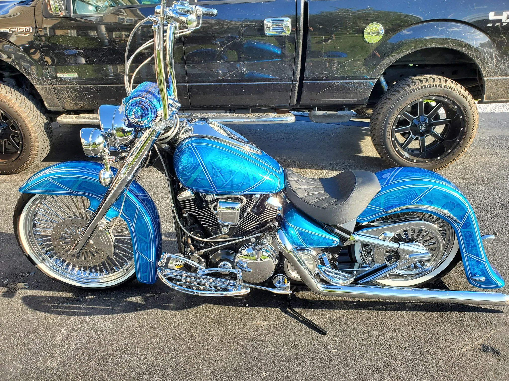 yamaha road star center stand for dual exhaust