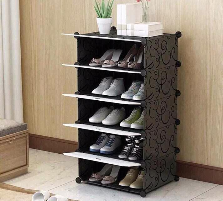 meuble range chaussures 5 et 12 etageres