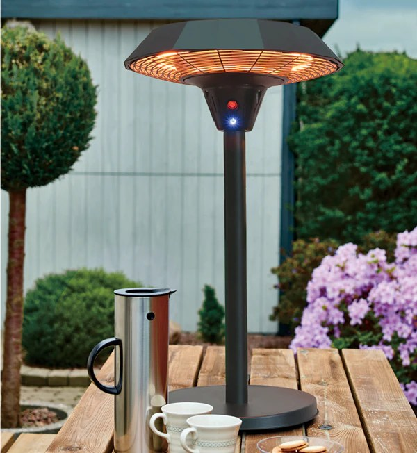 2kw electric table top patio heater