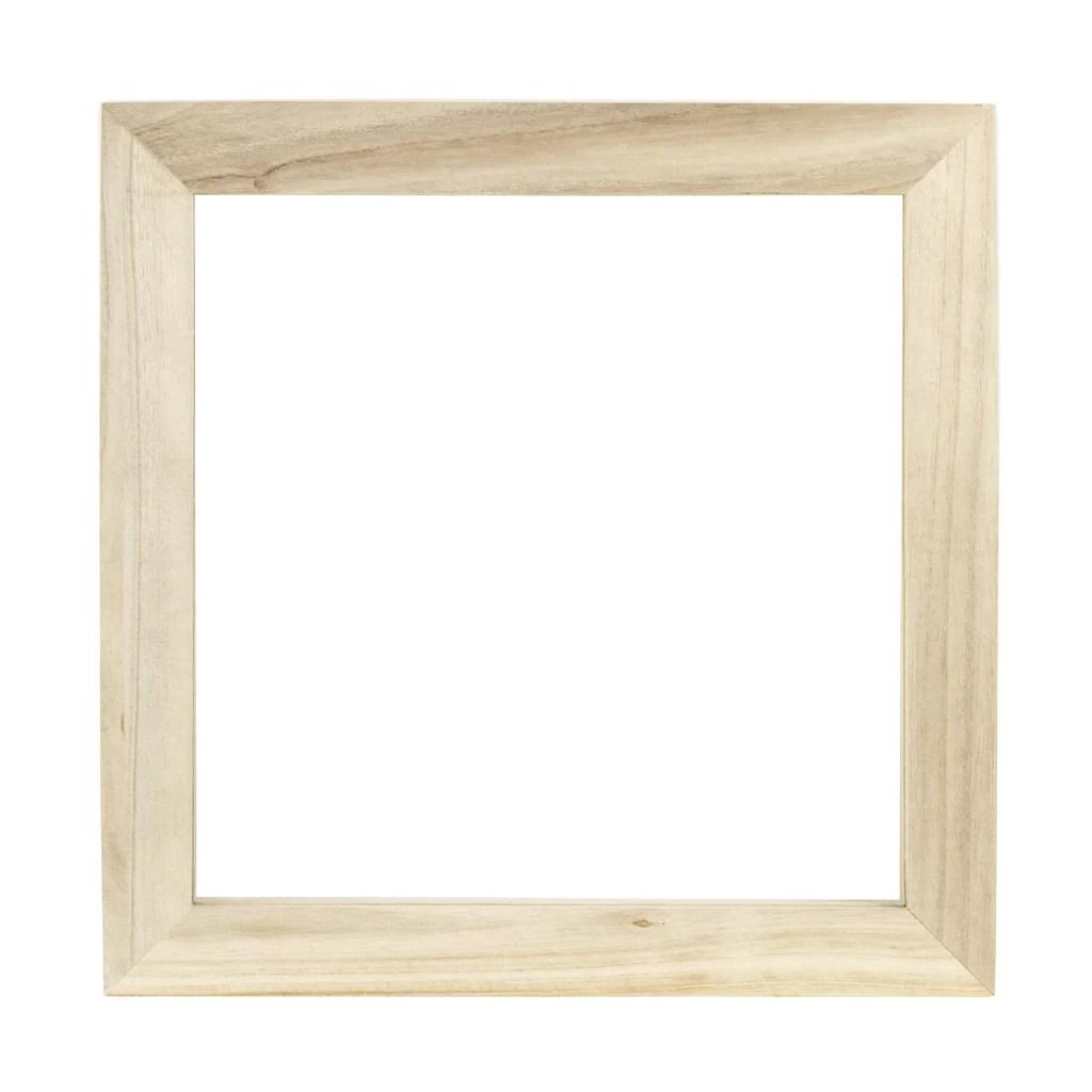 12x12 wood frame natural