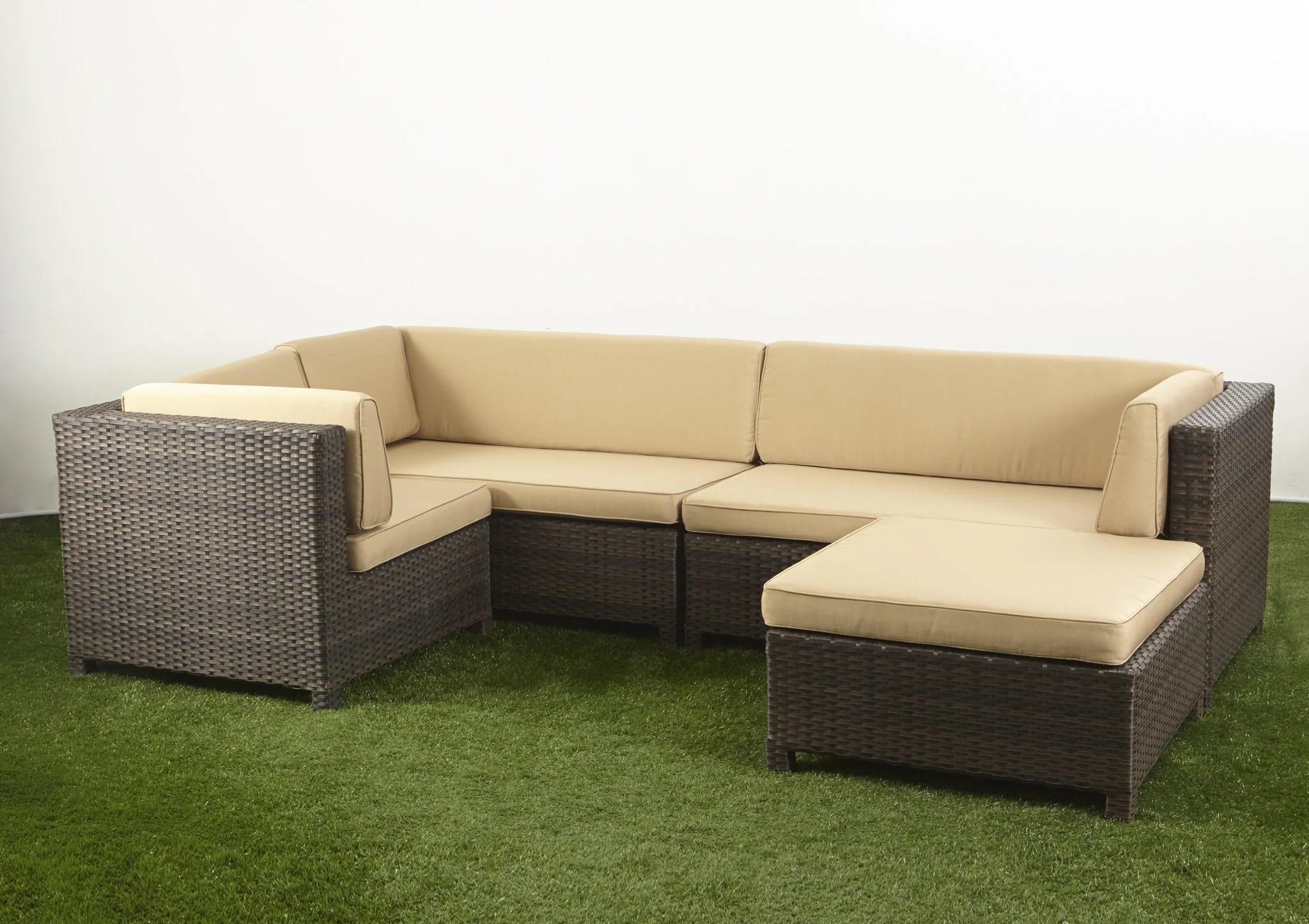 bali sofa lounger gray linen sleeper l shape modular lounge set boulevard outdoor