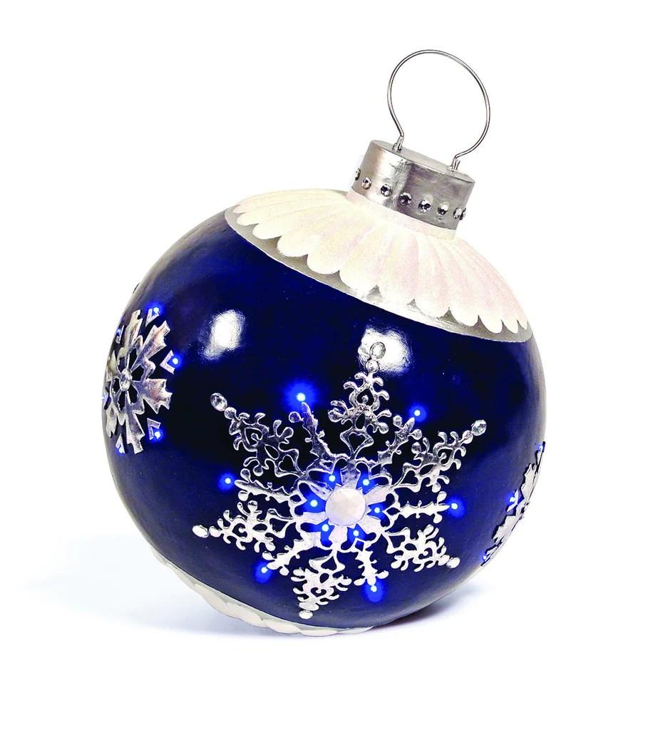 Led lit ornament commercial christmas decoration commercial