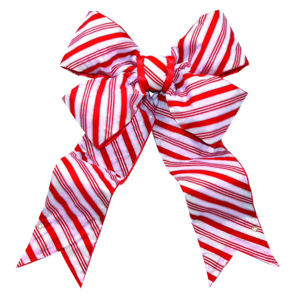 Candy Cane Structural Bow Commercial Christmas Supply