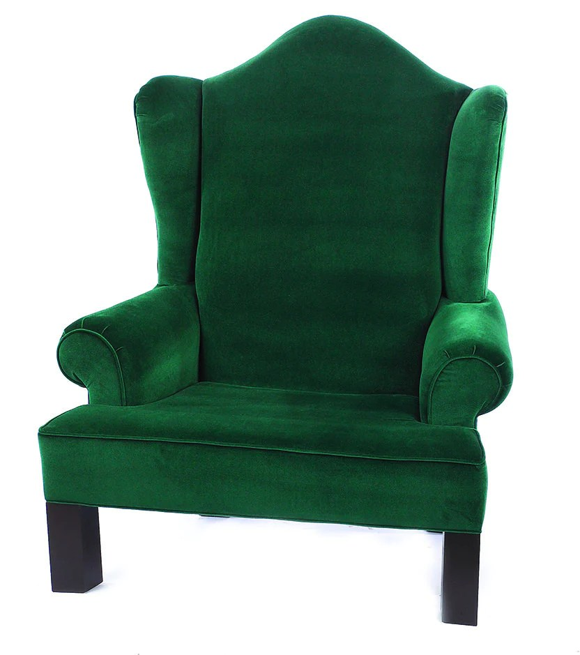 Green Wing Back Santa Chair  Commercial Christmas Supply