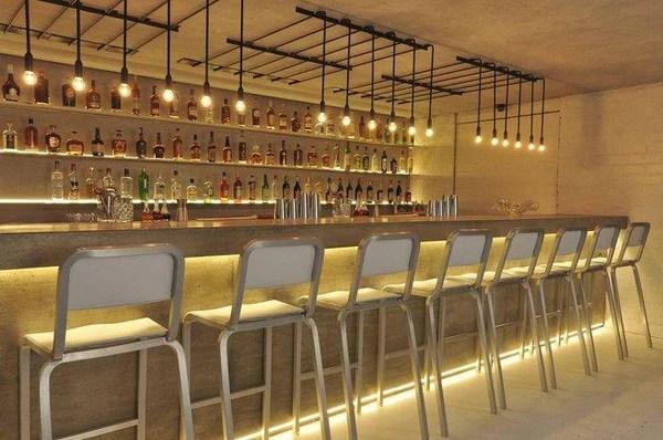 50 Elegant Industrial Style Home Bar Ideas