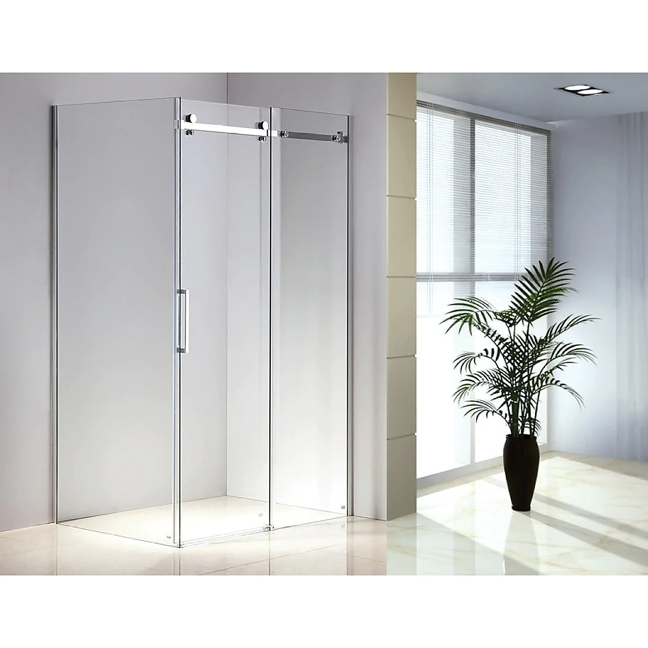 Shower Screen 1200x900x1950mm Frameless Glass Sliding Door By Della Francesca