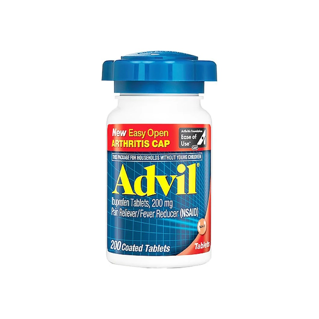 Advil Ibuprofen Pain Reliever/Fever Reducer 200 mg Coated ...