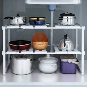 adjustable kitchen storage rack metal