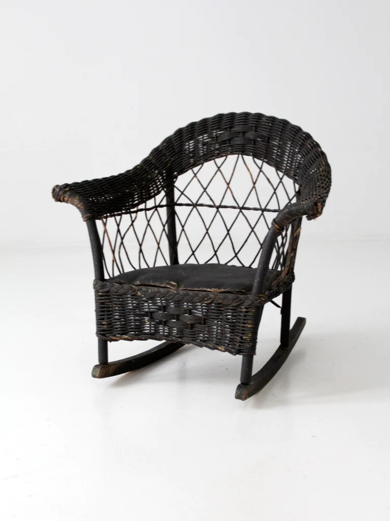 Wicker Rocking Chair Antique Children S Wicker Rocking Chair