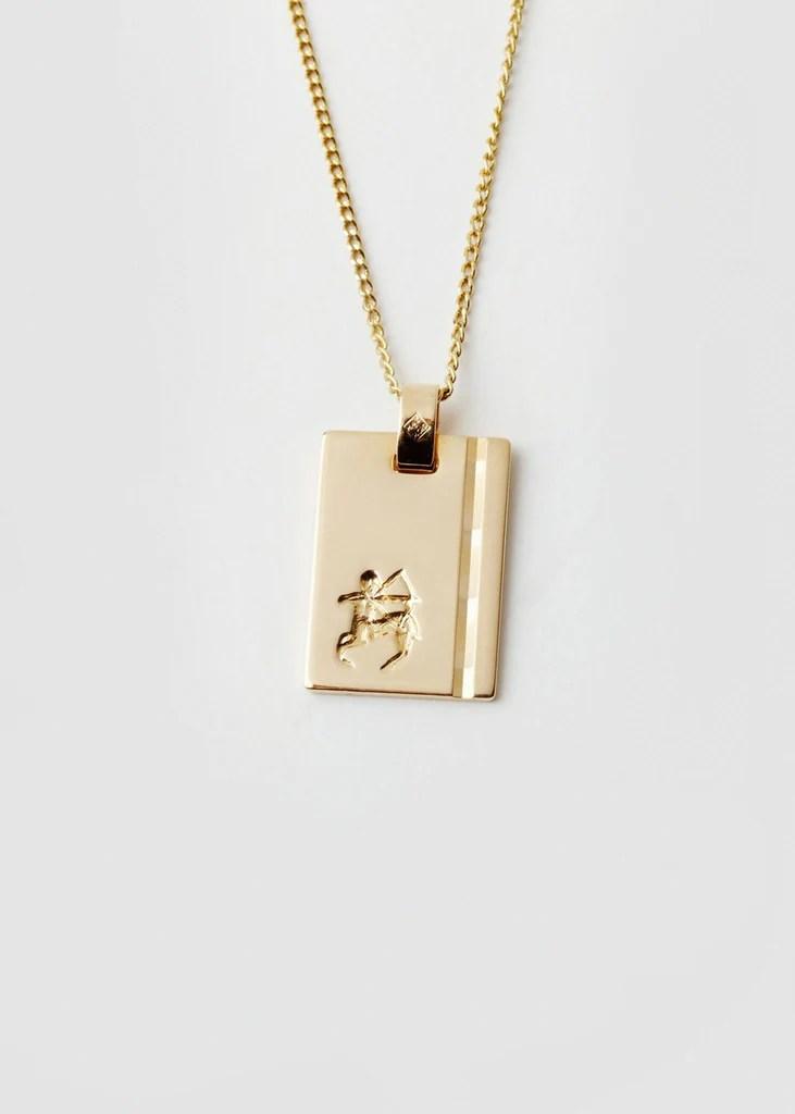 Reliquia 18ct Gold Sagittarius Necklace