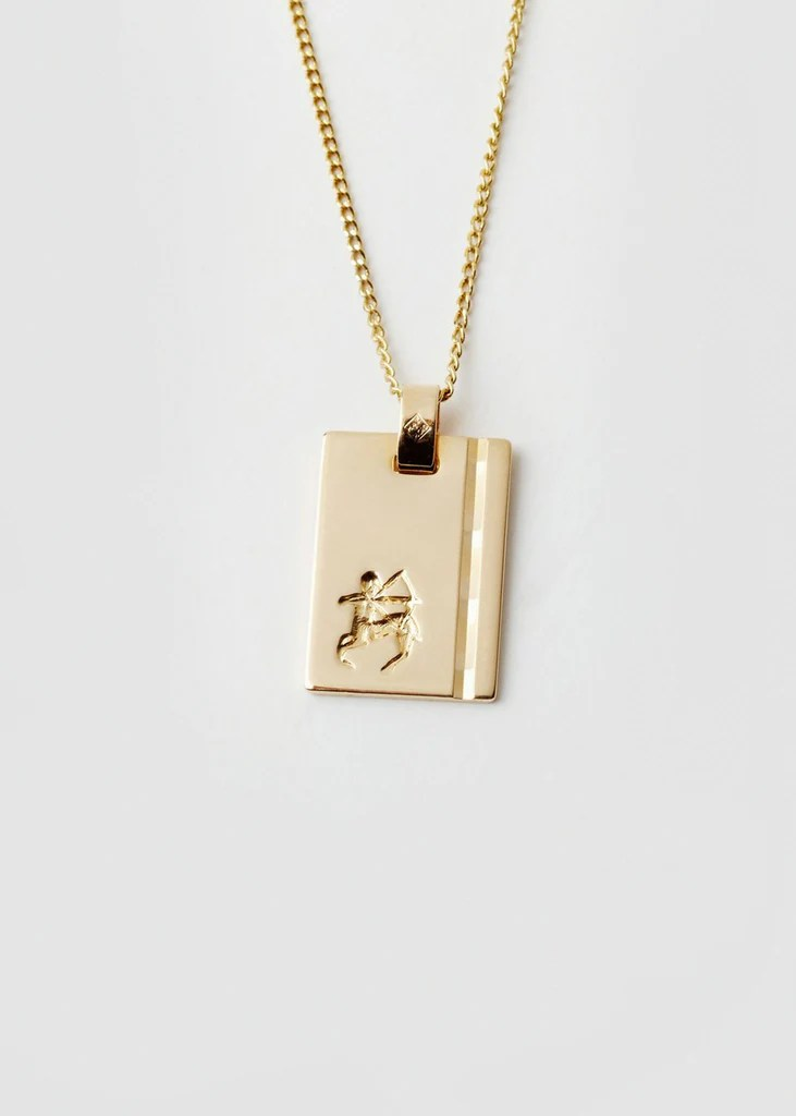Reliquia 18ct Gold Sagittarius Necklace