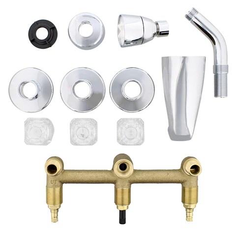 empire faucets tub spout 3 handle bathtub faucet with shower diverter