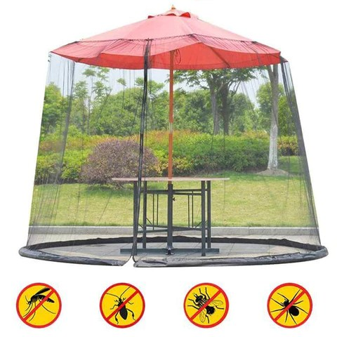 Outdoor Mosquito Net with Umbrella Screen Cover