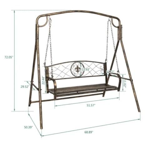 Premium Outdoor Backyard Porch Patio Swing Bench