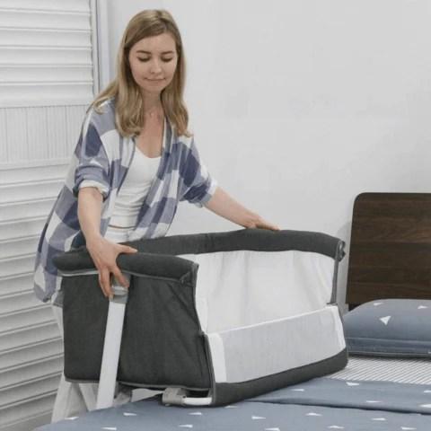 Modern Baby Side Sleeper Bedside Bassinet Crib