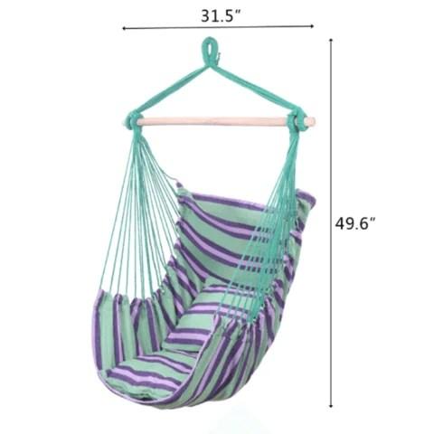 Premium Hanging Hammock Indoor Outdoor Ceiling Swing Chair