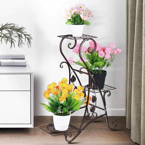 Metal Plant Stand 3 Layer Flower Pot Rack