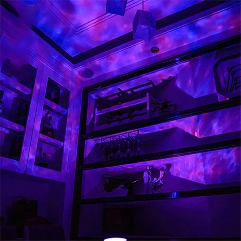 Ocean Wave Projector LED Night Light With USB Remote Control