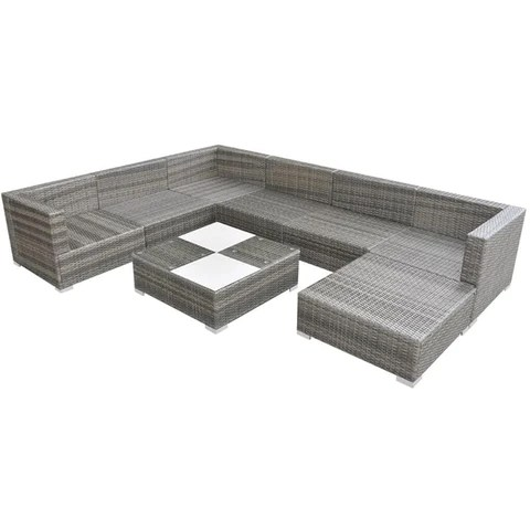 The patio lounge set features a solid powder-coated steel frame that is extremely durable. It is strong enough to withstand the use of rain and wind for a long time. The lounge set is easy to clean, hard-wearing and perfect for everyday use.