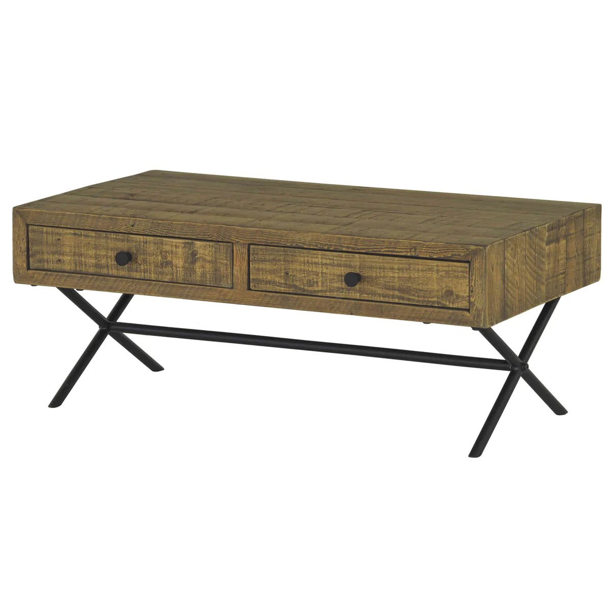 Reclaimed Wood Coffee Table With Drawers Rechic Ltd