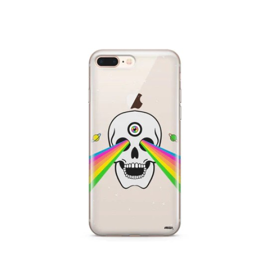 Trippy Skull - Clear TPU Case Cover