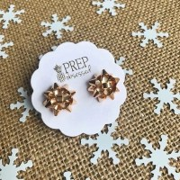 Present Bow Studs  Prep Obsessed