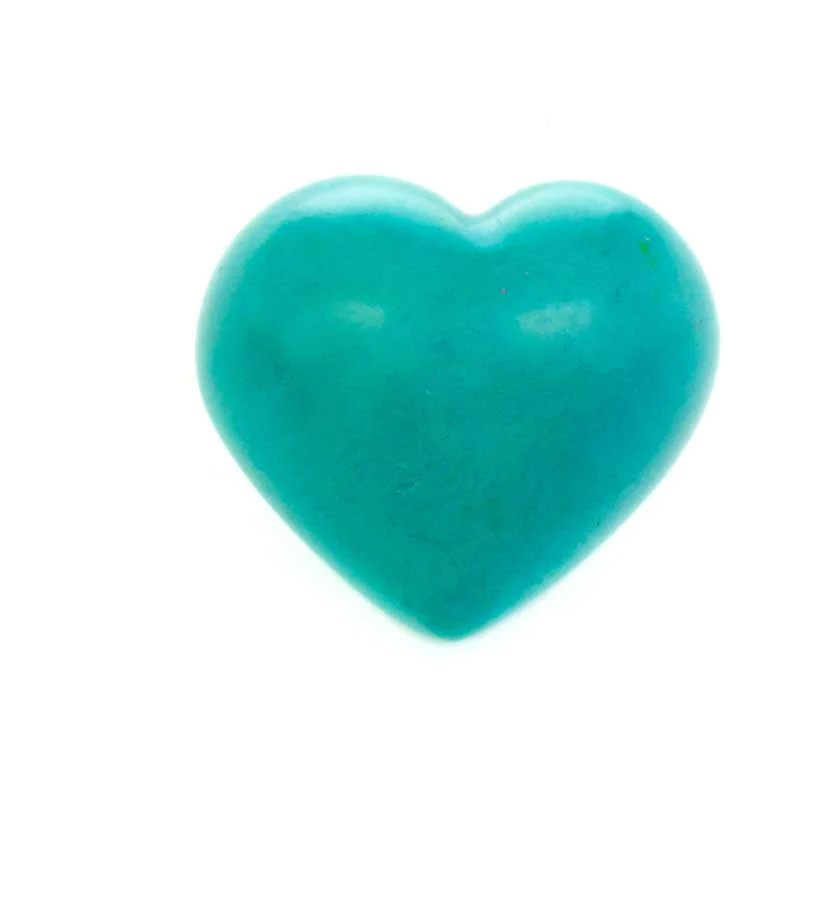 Solid Color Soapstone Hearts Carved In Africa Swahili